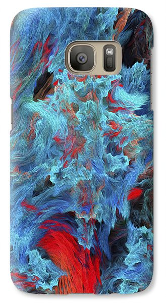 Galaxy Case featuring the digital art Fire And Water Abstract by Andee Design