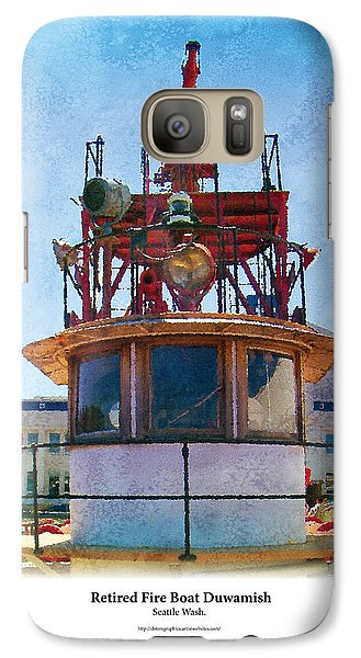 Galaxy Case featuring the painting Fire Boat by Kenneth De Tore