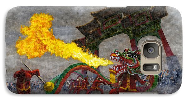 Galaxy Case featuring the painting Fire-breathing Dragon Dancer by Jason Marsh