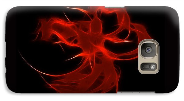 Galaxy Case featuring the digital art Fire Dancer by Holly Ethan