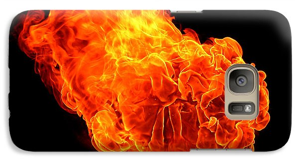 Galaxy Case featuring the photograph Fire by Emanuel Tanjala