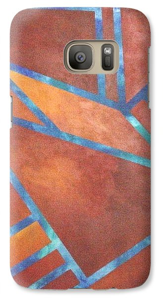 Galaxy Case featuring the painting Fire From The Sky by Bernard Goodman