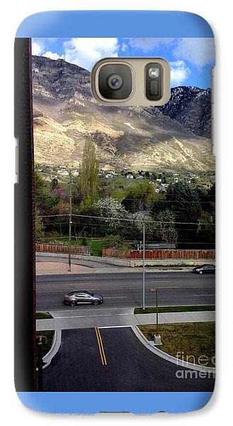 Galaxy Case featuring the photograph Fire Hydrant Guarding The Byu Y by Richard W Linford