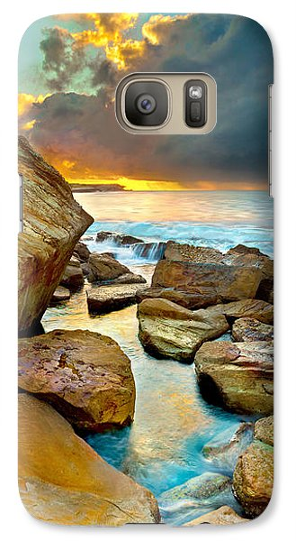 Featured Images Galaxy S7 Case - Fire In The Sky by Az Jackson