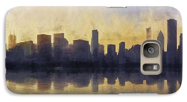 Fire In The Sky Chicago At Sunset Galaxy S7 Case by Scott Norris