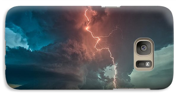 Galaxy Case featuring the photograph Fire In The Sky. by James Menzies