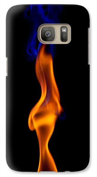 Galaxy Case featuring the photograph Fire Lady by Gert Lavsen