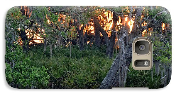 Galaxy Case featuring the photograph Fire Light Jekyll Island 02 by Bruce Gourley