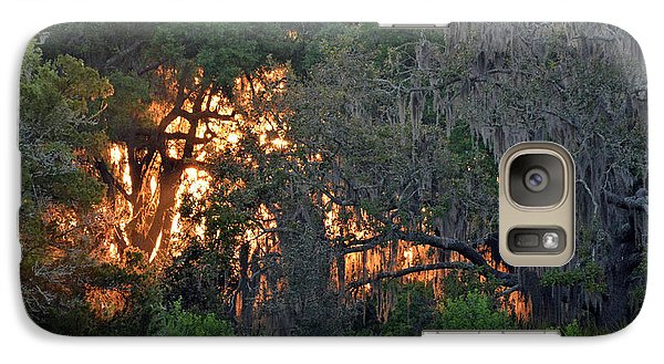 Galaxy Case featuring the photograph Fire Light Jekyll Island 03 by Bruce Gourley