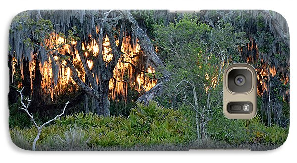 Galaxy Case featuring the photograph Fire Light Jekyll Island by Bruce Gourley