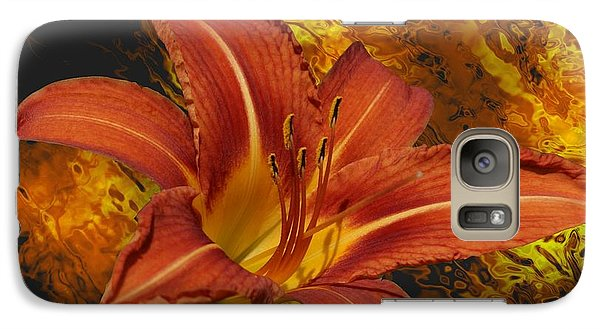Galaxy Case featuring the photograph Fire Lilly by Rick Friedle