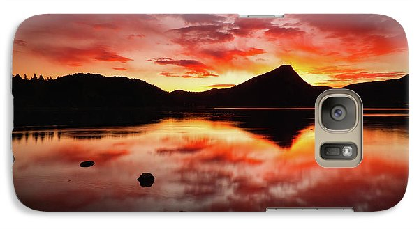 Galaxy Case featuring the photograph Fire Of Fall by John De Bord