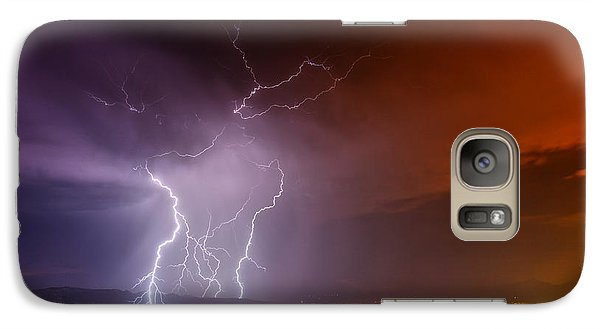 Galaxy Case featuring the photograph Fire On The Mountain by James Menzies