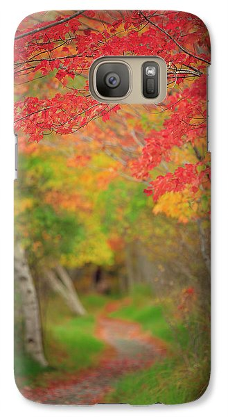 Galaxy Case featuring the photograph Fire Red Path  by Emmanuel Panagiotakis