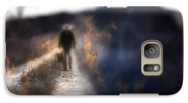 Galaxy Case featuring the photograph Fire Road by Gray  Artus