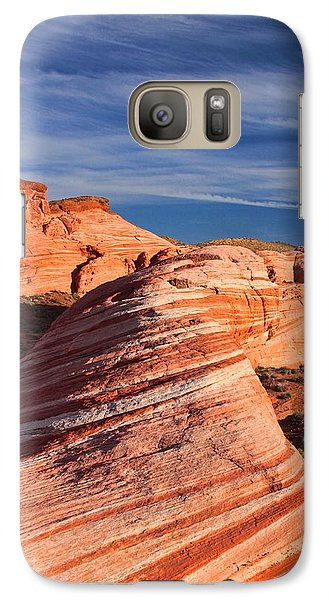 Galaxy Case featuring the photograph Fire Wave by Tammy Espino