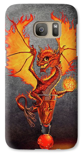 Galaxy Case featuring the digital art Fireball Dragon by Stanley Morrison