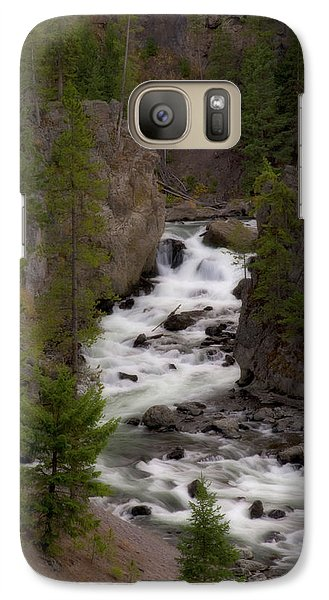 Galaxy Case featuring the photograph Firehole Canyon by Steve Stuller