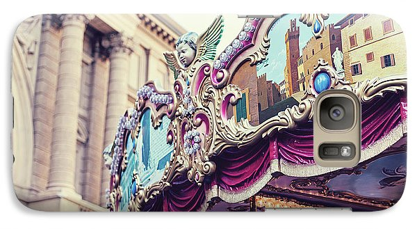 Galaxy Case featuring the photograph Firenze Carousel by Melanie Alexandra Price