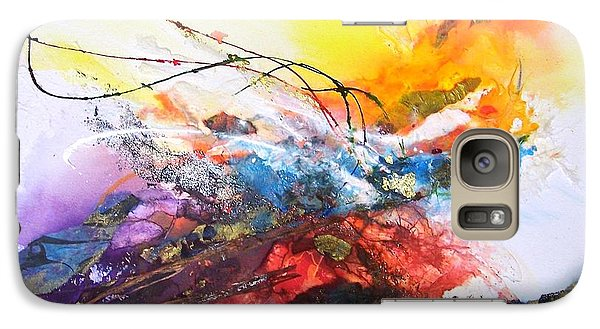 Galaxy Case featuring the painting Firestorm by Helen Harris