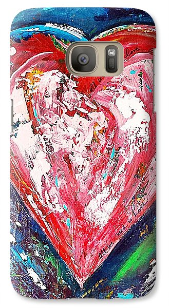 Galaxy Case featuring the painting Fireworks by Diana Bursztein