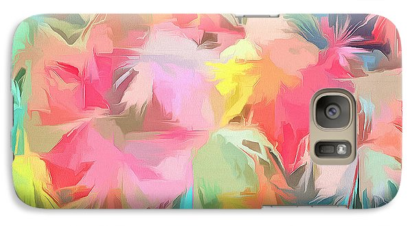 Fireworks Floral Abstract Square Galaxy S7 Case