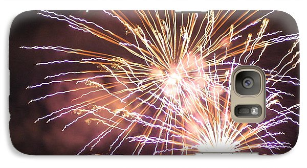 Galaxy Case featuring the digital art Fireworks In The Park 3 by Gary Baird