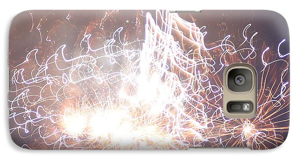 Galaxy Case featuring the digital art Fireworks In The Park 6 by Gary Baird
