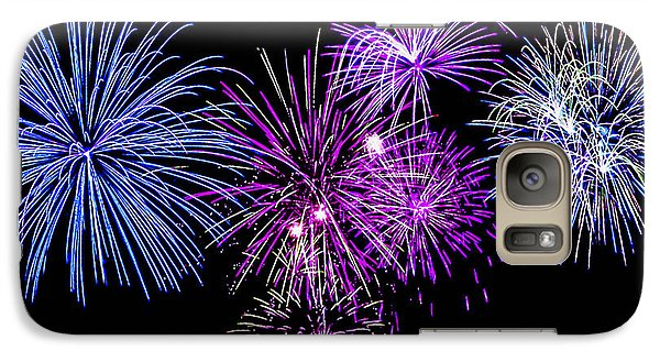 Galaxy Case featuring the photograph Fireworks Over Open Water 2 by Naomi Burgess
