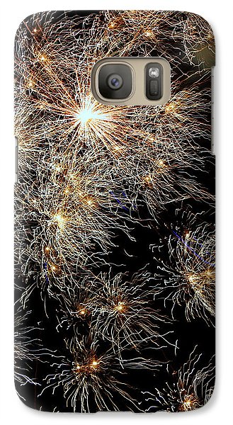 Galaxy Case featuring the photograph Fireworks by Suzanne Stout