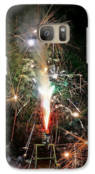 Galaxy Case featuring the photograph Fireworks by Vivian Krug Cotton