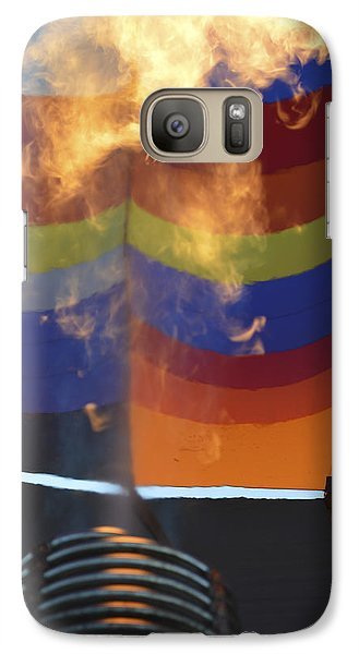 Galaxy Case featuring the photograph Firing Up by Linda Geiger