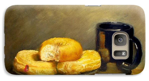 Galaxy Case featuring the painting First Call...breakfast by Jack Skinner