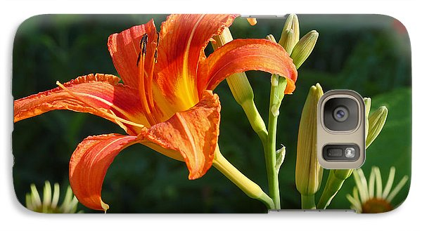 Galaxy Case featuring the photograph First Flower On This Lily Plant by Steve Augustin