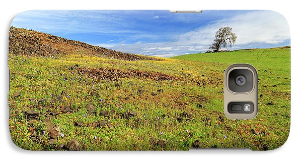 Galaxy Case featuring the photograph First Flowers On North Table Mountain by James Eddy