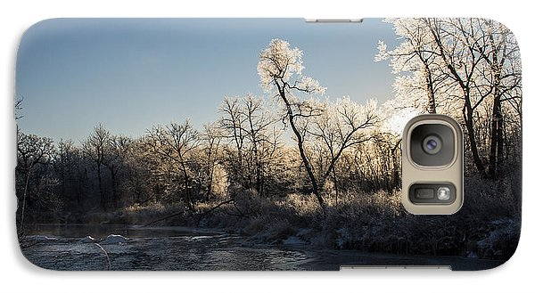 Galaxy Case featuring the photograph First Frost by Annette Berglund