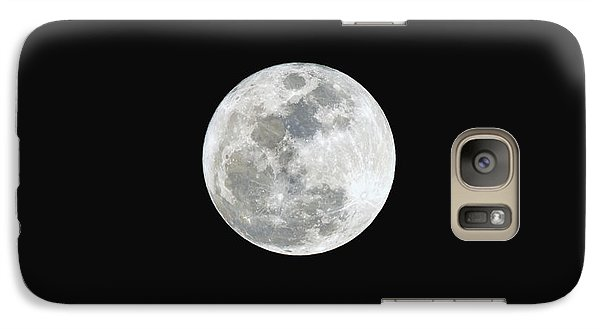 Galaxy Case featuring the photograph First Full Moon Of 2016 by Eddie Yerkish