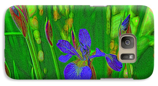 Galaxy Case featuring the photograph First Iris To Bloom by Dennis Lundell