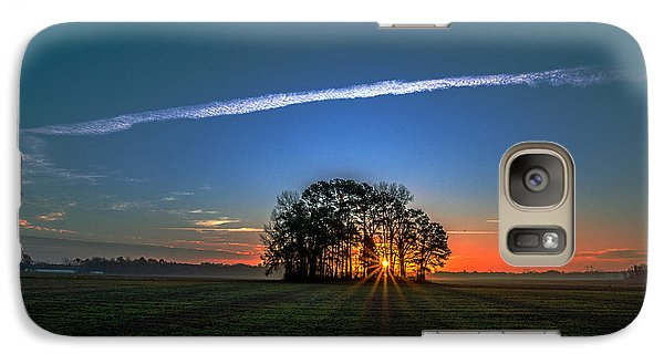 Galaxy Case featuring the photograph First Light At Center Grove by John Harding