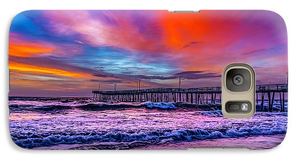 Galaxy Case featuring the photograph First Light On The Beach by Nick Zelinsky