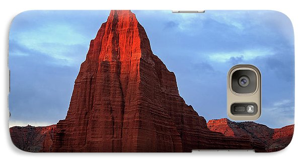 Galaxy Case featuring the photograph First Light On The Temple Of The Sun. by Johnny Adolphson