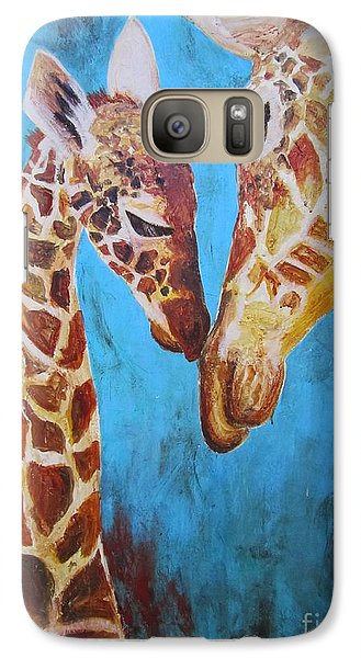 Galaxy Case featuring the painting First Love by Ashley Price