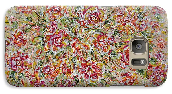 Galaxy Case featuring the painting First Love Flowers by Natalie Holland
