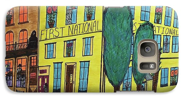 Galaxy Case featuring the painting First National Hotel. Historic Menominee Art. by Jonathon Hansen