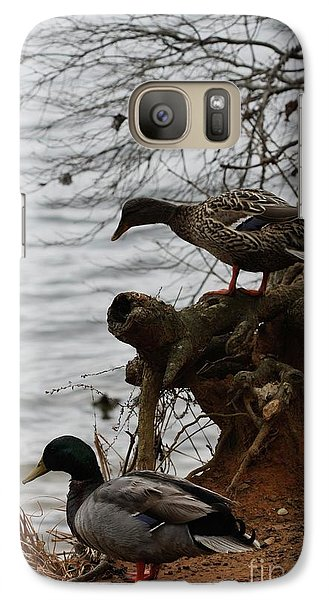 Galaxy Case featuring the photograph First One In by Kim Henderson