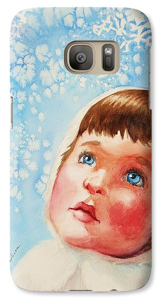 Galaxy Case featuring the painting First Snowfall by Marilyn Jacobson