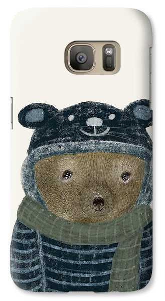 Galaxy Case featuring the painting First Winter Bear by Bri B