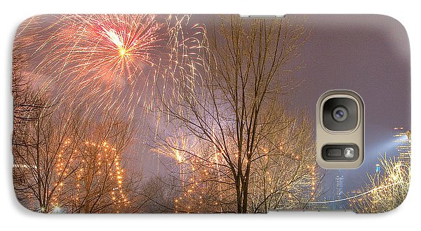 Galaxy Case featuring the photograph Firstnight Fireworks by Susan Cole Kelly