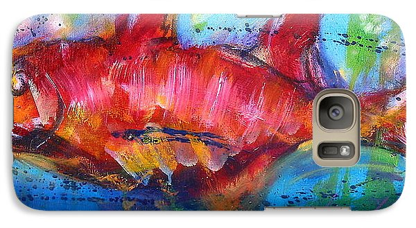 Galaxy Case featuring the painting Fish 4 by Les Leffingwell
