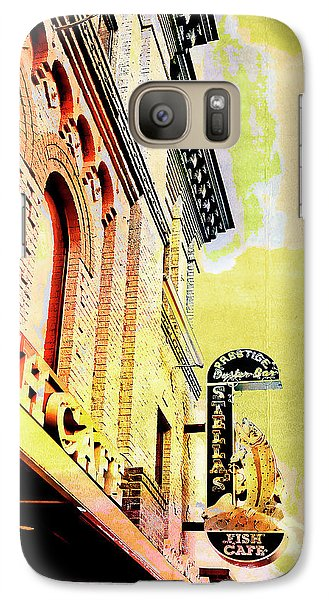 Galaxy Case featuring the digital art Fish Cafe by Susan Stone